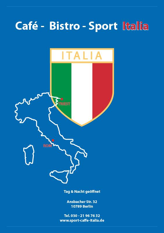 Speisekarten Beispiel Italia