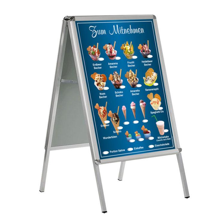 Wetterfestes Banner, Motiv Eis zum Mitnehmen, im Format DIN A 1 (59,4 cm x 84,1 cm), blau 2