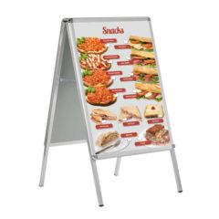 Wetterfestes Banner, Motiv Snacks, im Format DIN A 1 (59,4 cm x 84,1 cm)