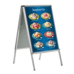 Wetterfestes Banner, Motiv Spaghetti Eis, blau2
