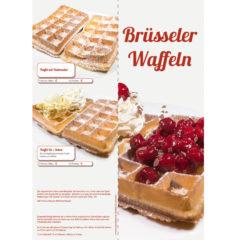 Eiskarte mit Brüsseler Waffeln