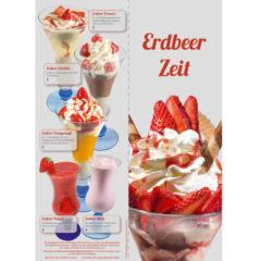 Erdbeer EisKarte