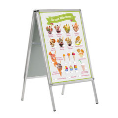 Eis zum Mitnehmen Banner im DIN A 1 Format für Kundenstopper
