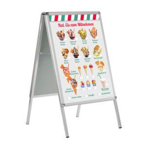 Eis zum Mitnehmen, Banner in italienischen Farben