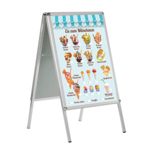Eis zum Mitnehmen, Banner für Kundenstopper