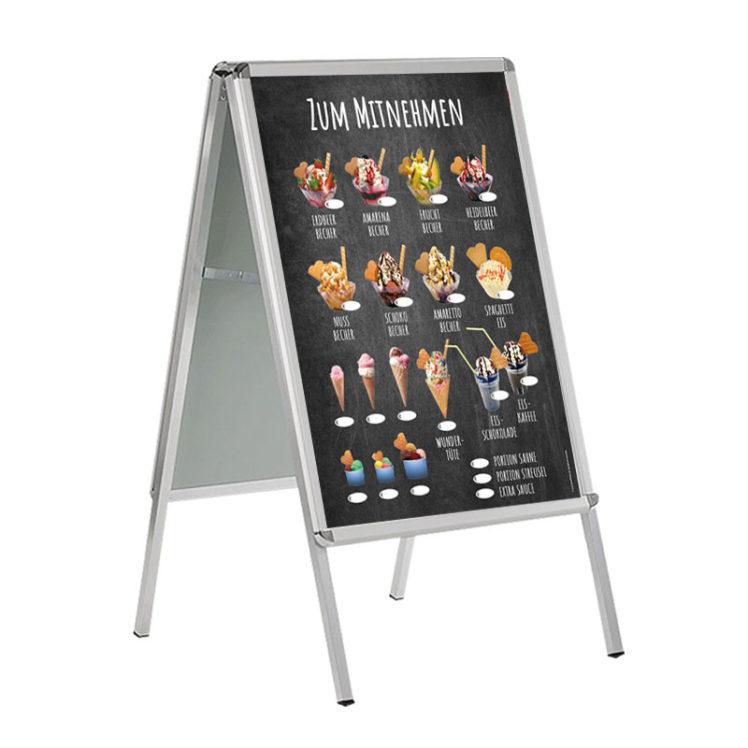 DIN A 1 Banner für Kundenstopper, wetterfest