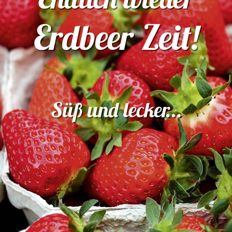 Poster mit frischen Erdbeeren macht Appetit!