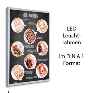 LED-Rahmen mit Motiv Heiße Waffeln