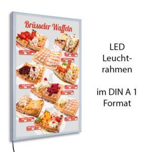 LED-Rahmen mit Motiv Brüsseler Waffeln
