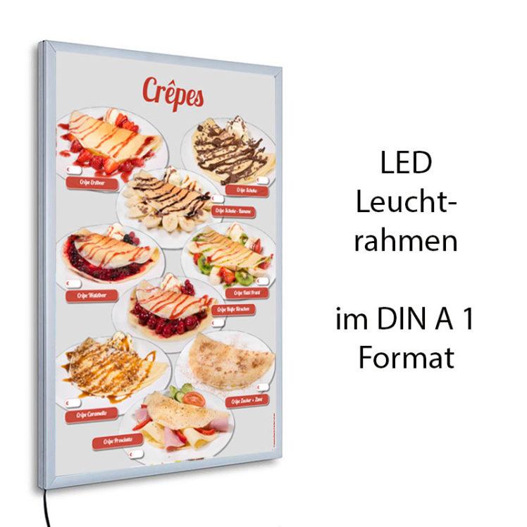 LED-Rahmen mit Motiv Crêpes