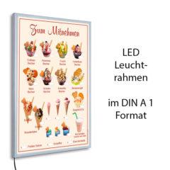 LED-Rahmen mit Motiv Eis zum Mitnehmen - beige