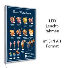 LED-Rahmen mit Eis zum Mitnehmen - blau