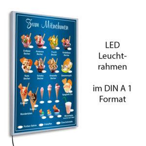 LED-Rahmen mit Motiv Eis zum Mitnehmen - blau2