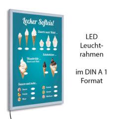 LED-Rahmen mit Softeis Portionen