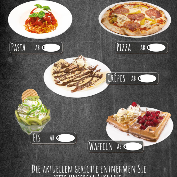 DIN A 1 Banner mit Speisen zum Mitnehmen